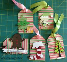 Christmas Tags With My Imagine and Cricut - Two Peas in a Bucket
