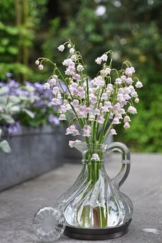 Lily of the valley and crystal.....lovely