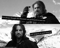Tolkien, master of allegory metaphor.