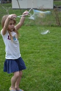 Really BIG Bubble Maker.  This activity is so cheap and easy to do, but the results are awesome and the kids LOVE it!