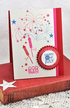 God Bless America Card by Dawn McVey for Papertrey Ink (May 2013)