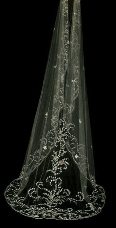 Couture bridal or wedding veil - Gardenia