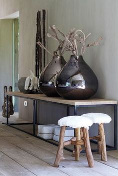 cool stools and vases....