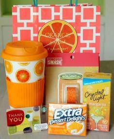 Orange You Glad It's Summer? teacher gift + {free printable}