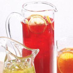 Hibiscus-Pomegranate Iced Tea