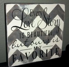 Chevron Love Story handmade distressed wooden sign by AlishaDCP, $34.00