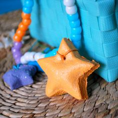 Salt Dough Starfish necklace for a Little Mermaid themed movie party - Southern Outdoor Cinema expert tip for theming and enhancing an outdoor movie event.