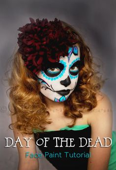 Day of the Dead Face Paint Tutorial on kleinworthco.com #TulipBodyArt #dayofthedead #sugarskull