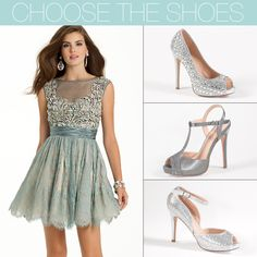 Camille La Vie Homecoming Short Dresses with gorgeous sandals and platform heels and peep toe pumps to match