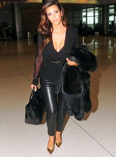 Chic airport look
