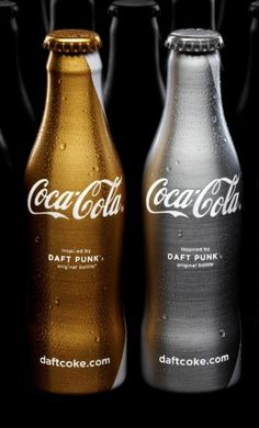 Coca Cola Daft Punk Limited Edition in Silver and Gold