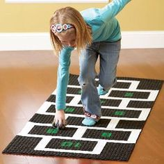 Indoor Games: Diy Hopscotch
