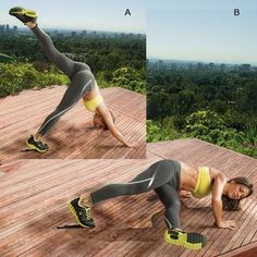 Ready to ramp up your push-up? Try Jillian Michaels' split-leg push-up to work arms, shoulders, chest, and core.