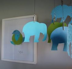 cute DIY mobile and nursery art