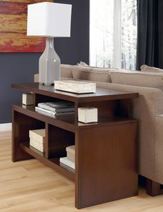 Perfect new storage spaces - modern sofa table with storage