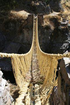 The inca rope bridge