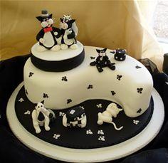 Black and white kitty cake!