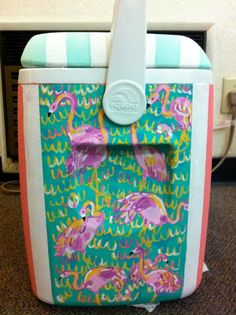 cute cooler with Lilly print on it!