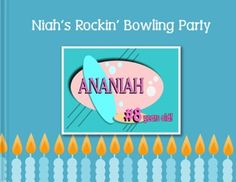 A rocking bowling birthday party themed photo book with a retro look. http://bit.ly/Iunt4g
