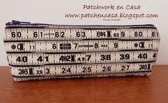 ESTOIG AMB CREMALLERA TUTORIAL  » Patchwork Patchwork, crochet, abalorios, fieltro, reciclage y mucho más