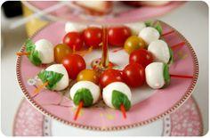 Mini Caprese salad - light and delicious appetizer