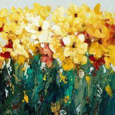 The bright blooms in this #havertys Color Fields Canvas make it the perfect #spring accessory for your space.
