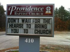 Church Sign!