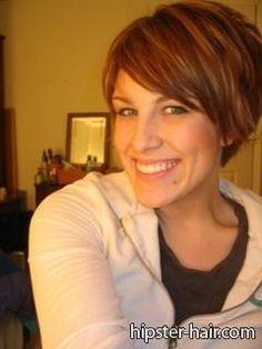 brown blonde short straight hair - cute hair cut!!