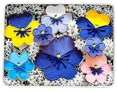 Pansies - made w/ regular flower shaped cutter.