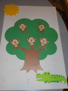 5 little monkeys sitting in the tree.