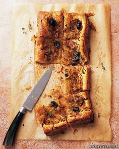 Caramelized Onion Tart with Olives - Martha Stewart Recipes