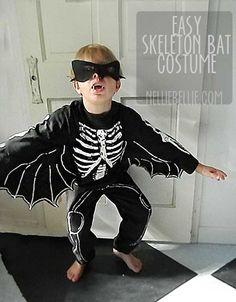 Easy Skeleton Bat costume!