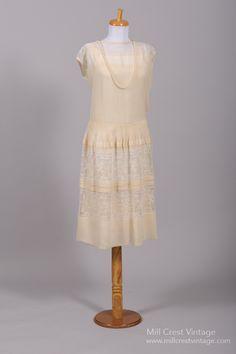 1920 Gatsby Lace Vintage Wedding Dress : Mill Crest Vintage