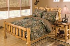 Take a look at this camo bedding. Decorate your little boy or girl's room with a bit of the outdoors.