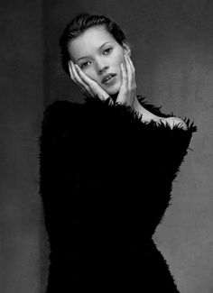 Kate Moss by Mario Testino for Glamour France, October 1993