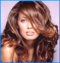 Thick Healthy Hair Golden Brown Haircolor