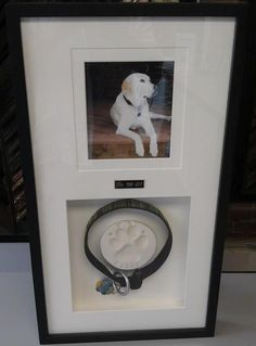 Custom framing is a fantastic way to honor your lost loved ones, even those furry friends... This beautiful shadowbox is a wonderful tribute to one of these very special pets, it includes a photo, dog collar and sweet paw imprint. What a sentimental and memorable gift this would make! Custom framed by FastFrame of LoDo.