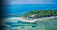 Little Palm Island. The resort is for couples ready to get alone time. No one under 16 years old allowed