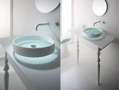 Omvivo - Kaleidoscope Glass Motif Basin