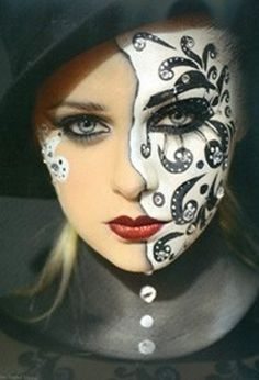 Beautiful Face Painting - www.pinterest.com/wholoves/Beautiful faces - #beautiful #faces