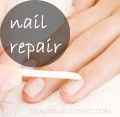 Nail Repair: scrub and soak