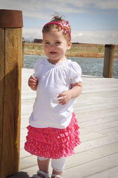 pink skirt, ruffl bright