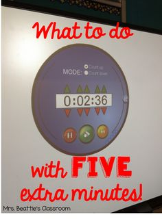 Ever wonder what to do with FIVE extra minutes of class time? Check out this awesome idea from Mrs. Beattie's Classroom!