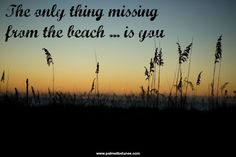 The only thing missing from the beach ... is you! #beach #quotes