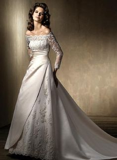Lace Wedding Gown Long Sleeves