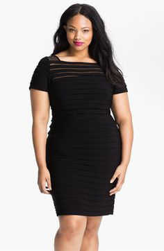 Adrianna Papell Illusion Bodice Pleated Jersey Sheath Dress (Plus) available at #Nordstrom