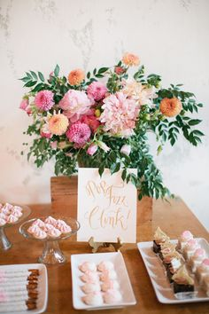 Sweets table | Photo by Shalyn Nelson of Love | Read more - http://www.100layercake.com/blog/?p=76681 #calligraphy #dessert #tabledecor