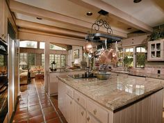 Beautiful and workable, love the tile floors too!