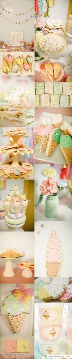 cream birthday, birthday parties, parti fun, parti idea, parti pastel