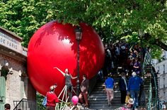 See This Gigantic Red Ball 'Tour' Paris
